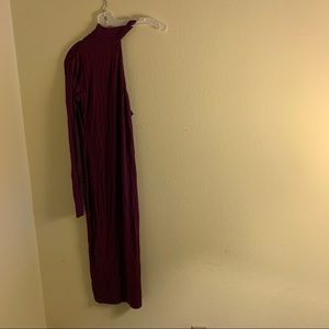 ASOS one shoulder purple dress